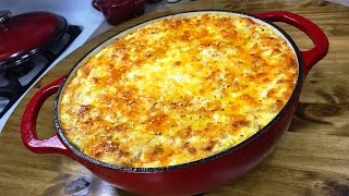 getlinkyoutube.com-The Ultimate Five-Cheese Macaroni and Cheese | Lodge Enameled Cast Iron Dutch Oven