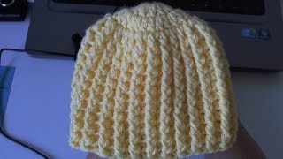 getlinkyoutube.com-How to crochet Easy Ribbed Beanie/Cap Style 1 - Yolanda Soto Lopez