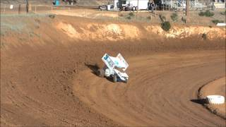 getlinkyoutube.com-KWS 410 Sprint Cars- Placerville Qualifying