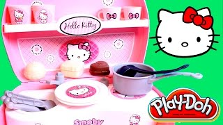 getlinkyoutube.com-Play Doh Hello Kitty Mini Kitchen Playset Mini Cocina Juguetes Hello Kitty Patisserie Pastry Shop