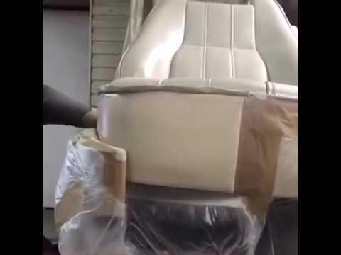 Полное окрашивание сидения в Range Rover