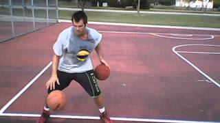 Two Ball Front Crossover with Behind the Back Dribble