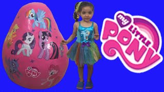 getlinkyoutube.com-My Little Pony Giant Egg Surprise Opening Unboxing New MLP Toys + Princess Twilight Sparkle