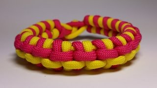 getlinkyoutube.com-How to make Double-stitched Switchback Bracelet [by Paracord Knots]