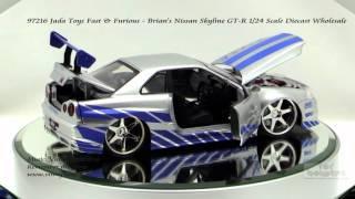 getlinkyoutube.com-97216 Jada Toys Fast & Furious Brians Nissan Skyline GT R 1/24 Scale Diecast Wholesale