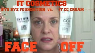 getlinkyoutube.com-IT Cosmetics Bye Bye Foundation vs. It Cosmetics CC Cream Review | FACE OFF