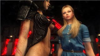 getlinkyoutube.com-Skyrim Mod Review 61 - Wet Wounded Body and Eloise Korean Follower - Series: Boobs and Lubes