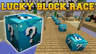 getlinkyoutube.com-Minecraft: DIAMOND MINE LUCKY BLOCK RACE - Lucky Block Mod - Modded Mini-Game