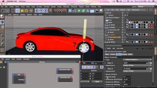 getlinkyoutube.com-Car rigging in Maxon 4d using xpresso control on speed,stop and reverse