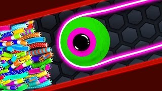 Slither.io - HACKER STRONG SNAKE vs 94500 SNAKES / Epic Slitherio Gameplay (Slitherio Funny Moments)