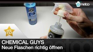 Chemical Guys Flaschen richtig öffnen   Chemical Guys Insta Wax - P40 - V7 Spray Sealant