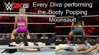 getlinkyoutube.com-WWE 2K15 (PS4) Every Diva Performing the Booty Popping Moonsault