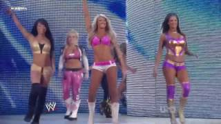 getlinkyoutube.com-(720pHD): WWE Raw 06.13.11: Team Kelly Kelly vs Team Bella Twins
