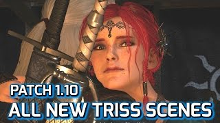getlinkyoutube.com-Witcher 3: All New Triss Romance Scenes, Patch 1.10
