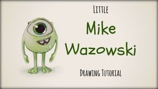 getlinkyoutube.com-Drawing Tutorial ❤ Little Mike Wazowski