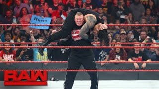 Brock Lesnar confronts multiple Raw Superstars: Raw, Jan. 16, 2017