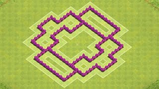 getlinkyoutube.com-Clash of Clans Town Hall 6 Defense BEST CoC TH6 Trophy Base Layout Defense Strategy