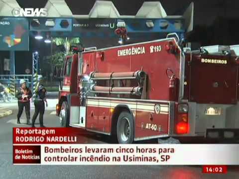 Incêndio atinge alto-forno de siderúrgica em Cubatão
