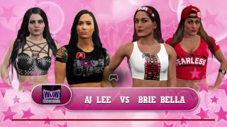getlinkyoutube.com-WWE 2K17 AJ Lee w Paige vs Brie Bella w Nikki Bella