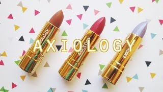 New Axiology Lipstick Colors for Summer 2016! // Vegan, Cruelty Free, Green Makeup!