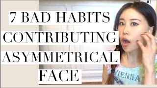 getlinkyoutube.com-7 Bad Habits Contributing Asymmetrical Face | How to Fix Facial Asymmetry