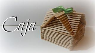 TUTORIAL: Caja fácil con palitos de madera (helados) | Caja Original | Mundo@Party