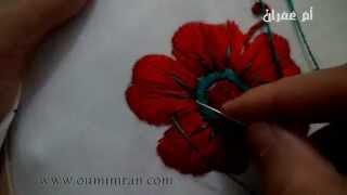 getlinkyoutube.com-طريقة طرز وردة في الطرز الرباطي  جزء التاني مع ام عمران   tarz rbati Arab Embroidery