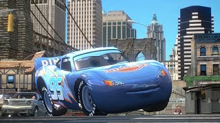 getlinkyoutube.com-Cars Dinoco Lightning Mcqueen Crash Test
