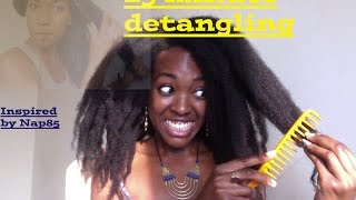 getlinkyoutube.com-25 Minute Detangling: Attempt on WAIST Length 4C Hair (Naptural 85)