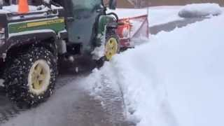 getlinkyoutube.com-UTV Plowing Snow Gator 825i Boss Plow