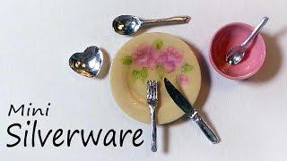 getlinkyoutube.com-Realistic Miniature Cutlery / Silverware Tutorial