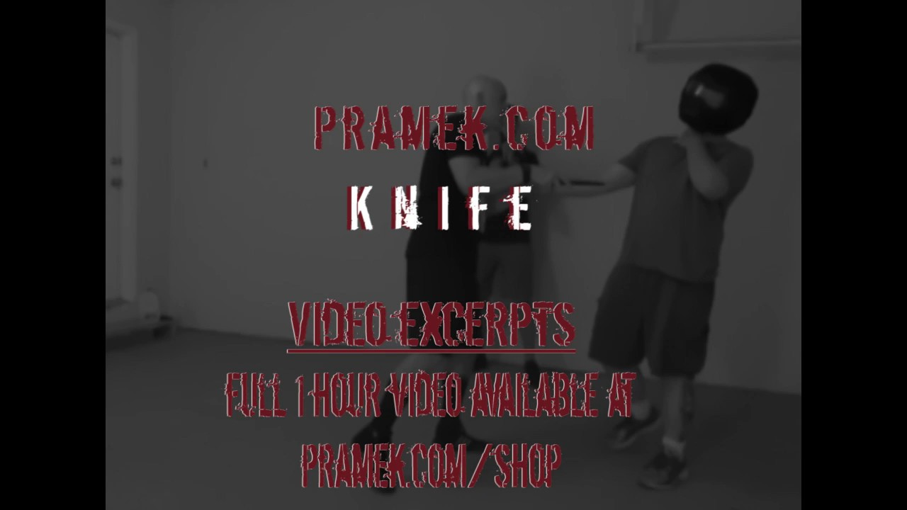 Violent realistic knife instruction - 'stab them in the face'
