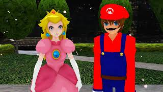 [MMD × Super Mario] Mario × Peach (Corney Kiss) (Request #32 From Chase Temple)