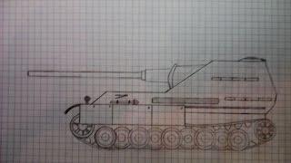 getlinkyoutube.com-Как нарисовать танк Jg.Panther 2/ How to a draw tank Jg.Panther 2