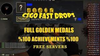 getlinkyoutube.com-CSGO-Fast Drops-Free Servers-Idle Servers-Full Achievements-Full Golden Medal