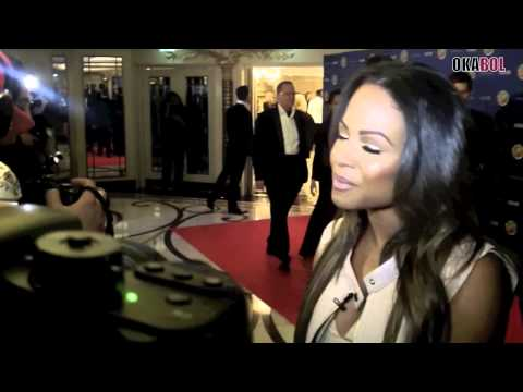 Drogba fundraiser event with Christina Milian