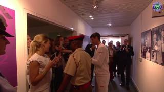 getlinkyoutube.com-Victorious Novak Djokovic greets fans and famous faces