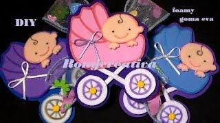getlinkyoutube.com-CARREOLA PARA BABY SHOWER EN FOAMY O GOMA EVA  / Ronycreativa