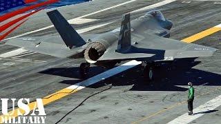 getlinkyoutube.com-F-35C ライトニングII (艦載型)・初の空母着艦テスト その2