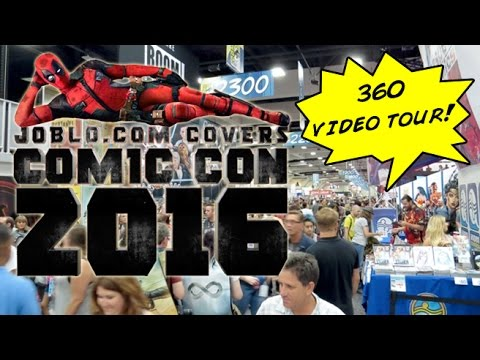 Convention Floor 360 Degree Video Tour! (Comic Con 2016)