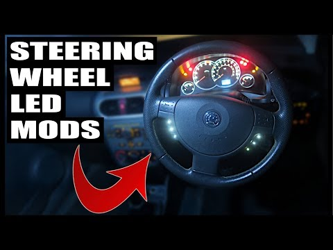 How To Remove and Install Vauxhall Corsa Steering Wheel   *LED Button Mods*