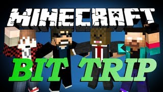getlinkyoutube.com-BRAND NEW Minecraft Bit Trip Parkour Minigame w/ BajanCanadian, SSundee, and NoahCraftFTW