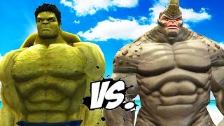 getlinkyoutube.com-The Hulk vs Rhino (Spider-Man) - Epic Battle
