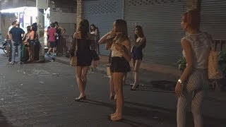 getlinkyoutube.com-Pattaya Walking Street 29.3.2014 SPECIAL. Part 2 Nightlife Bars closed many Freelancer