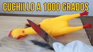 CORTANDO COSAS ESTÚPIDAS CON UN CUCHILLO A 1000 GRADOS - Experimentos Caseros