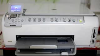 getlinkyoutube.com-HP Printer Photosmart C5180 Booting