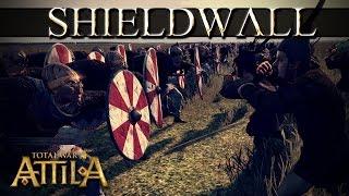 getlinkyoutube.com-Total War Attila Mechanics - Shield Wall or Counter Charge vs High Charge