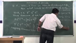 XI-2.08.Application of Dimensioanl Analysis -2, Pradeep Kshetrapal (2014)