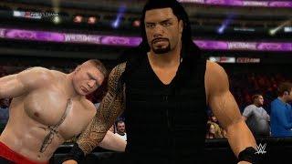 getlinkyoutube.com-WWE 2K15 - Roman Reigns vs Brock Lesnar (Extreme Rules) 1080p HD