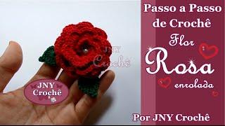 getlinkyoutube.com-Passo a Passo de Crochê Rosa enrolada por JNY Crochê